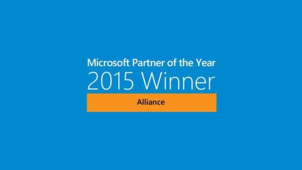 Microsoft Alliance Partner of the Year award